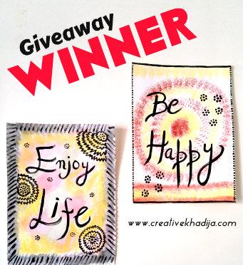 win giveaway wall art painting calligraphy art DIY