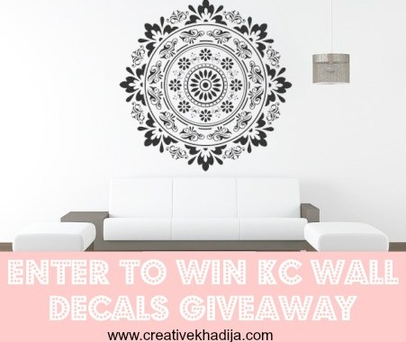 wall decal giveaway on creative khadija blog
