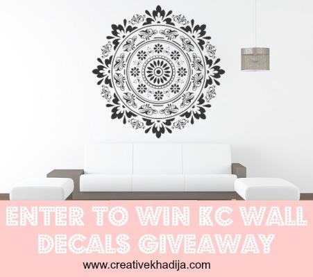 wall decal giveaway on creative khadija blog