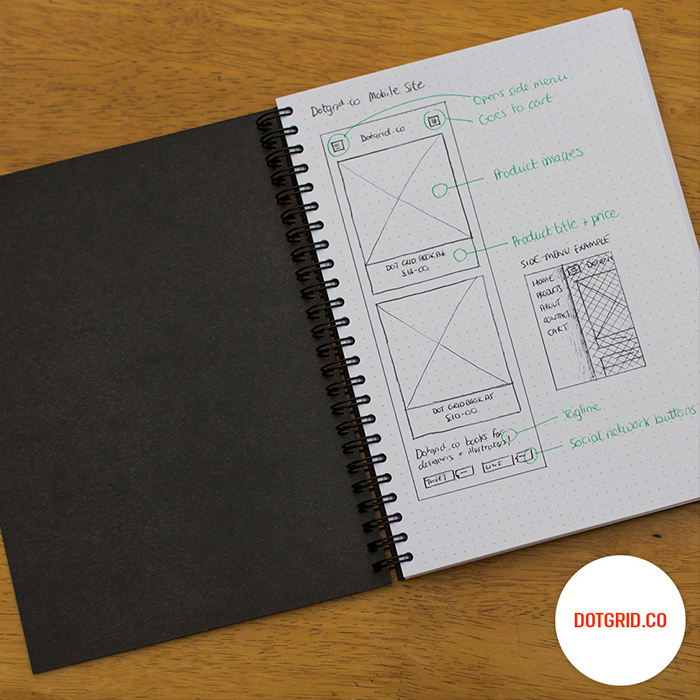 dot-grid-book Sketchbooks Pinterest User interface and Ui design - graph paper