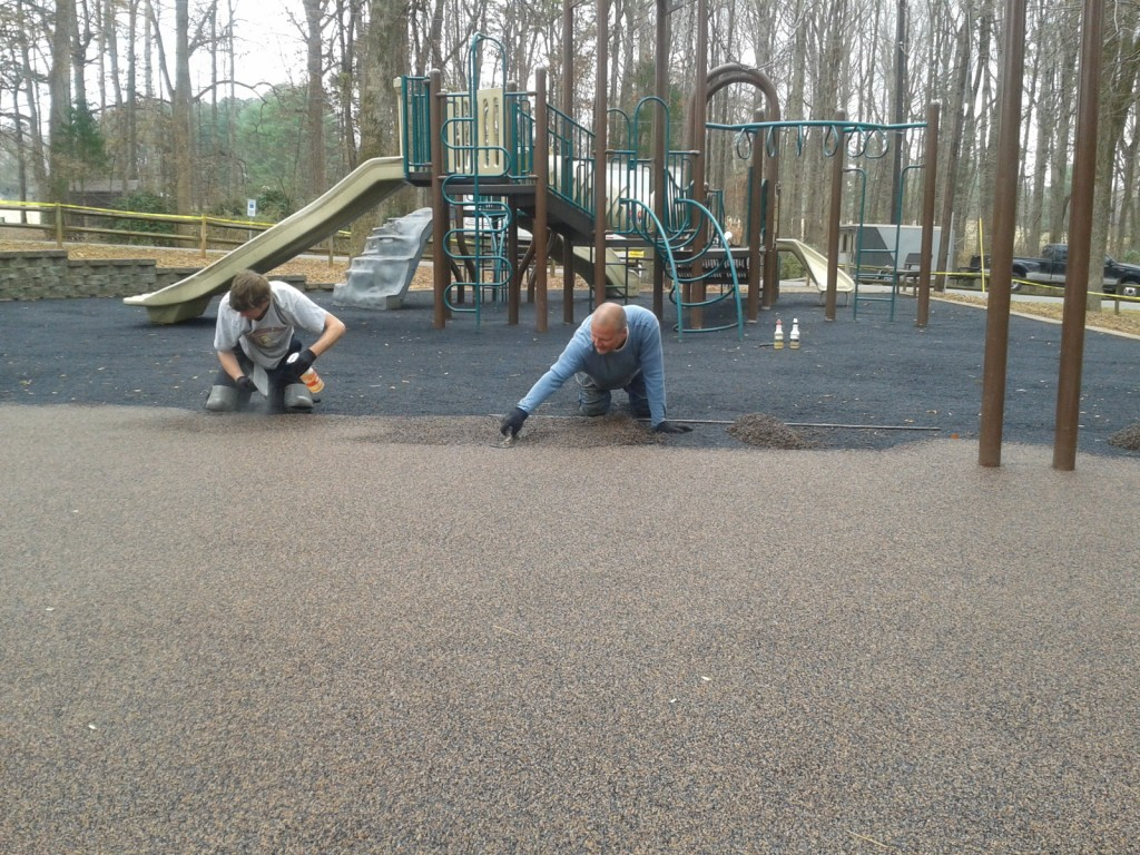 Solid Rubber Playground Surfacing Charlotte