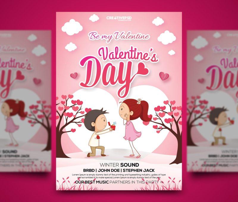 Valentines Day Free Flyer PSD
