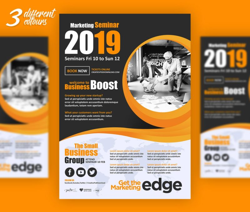 Premium Corporate Marketing Flyer PSD Freebie - free product flyer templates