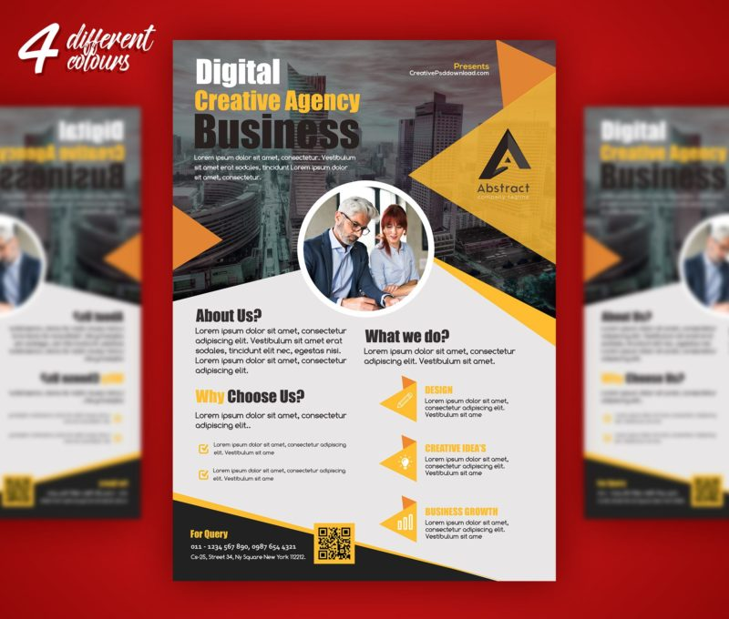 Professional Business Flyer PSD Freebie - free product flyer templates