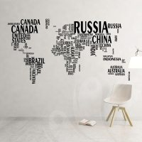 World Map Wall Decal Sticker  Wall Decals and Wall ...