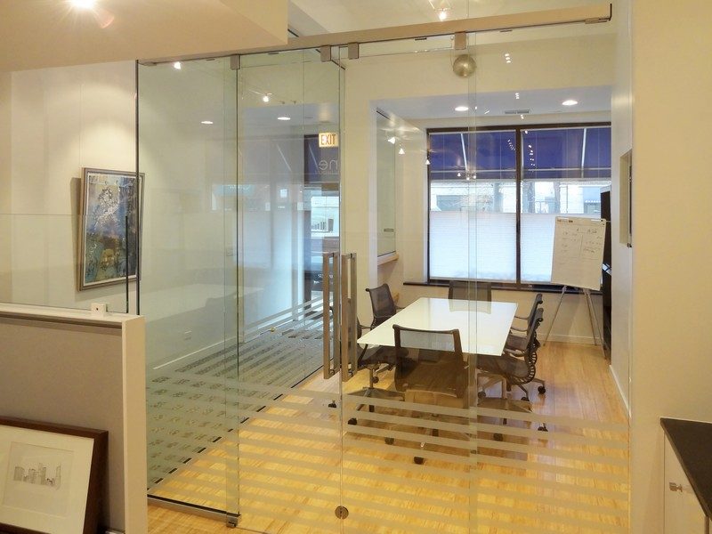 Frameless Mirror Sliding Doors Conference Rooms Creative Sliding Doors Of Chicago