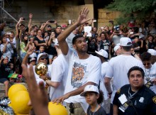Tim Duncan at 2014 Championship Parade