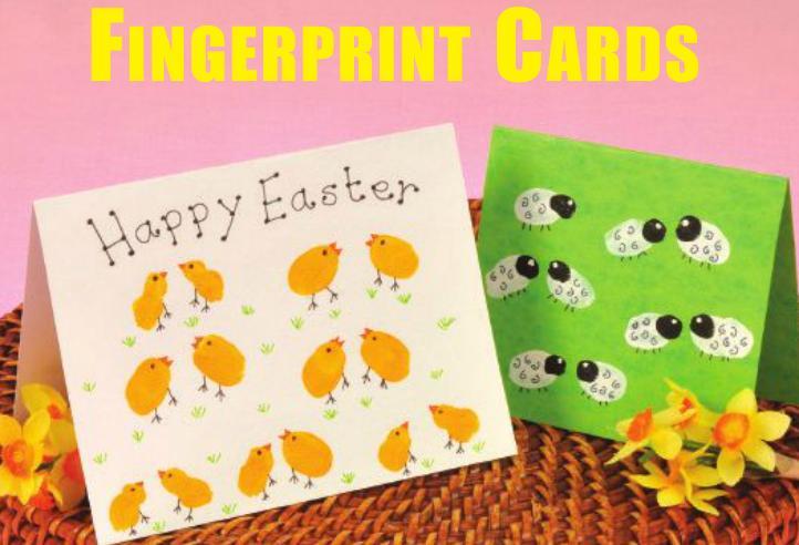 Fingerprint Easter Cards - Creative Steps - Creative Steps