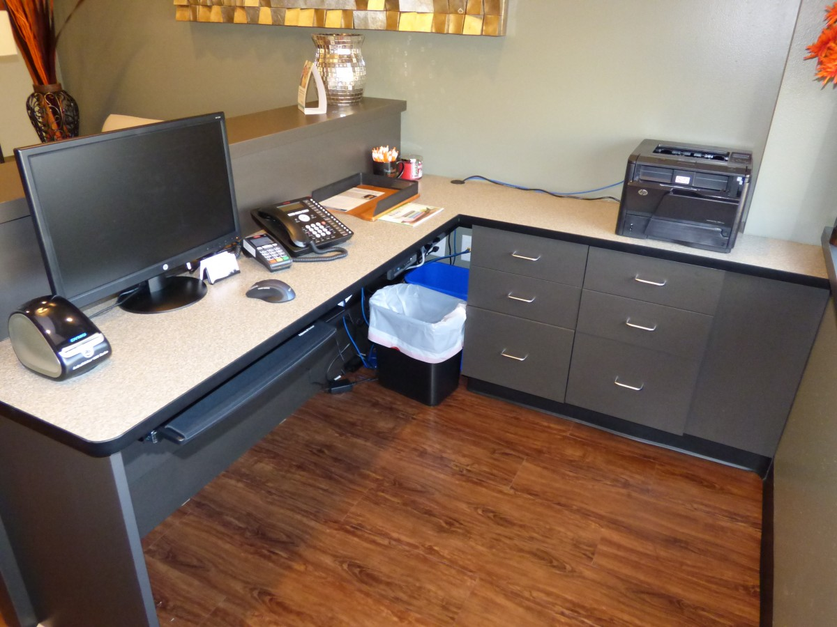 Laminate Countertop Desk Custom Dentistry Cabinets Creative Surfaces Sioux Falls Sd