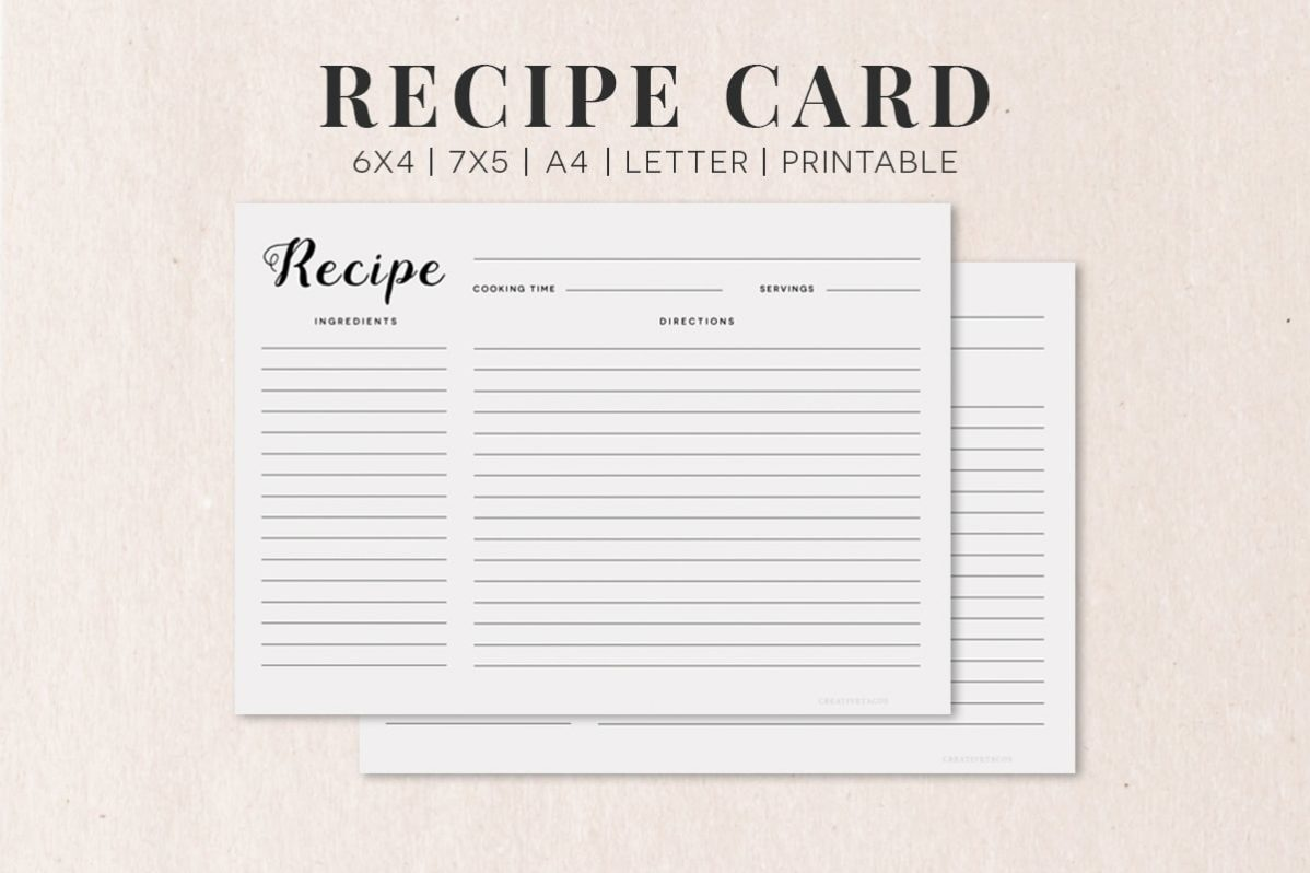 recipe card backgrounds
