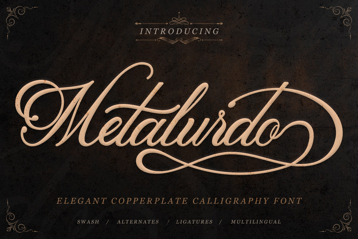 Copperplate Calligraphy Font Free Free Metalurdo Calligraphy Font Creativetacos