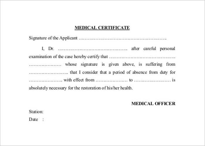 medical certificate template pdf work completion certificate sample