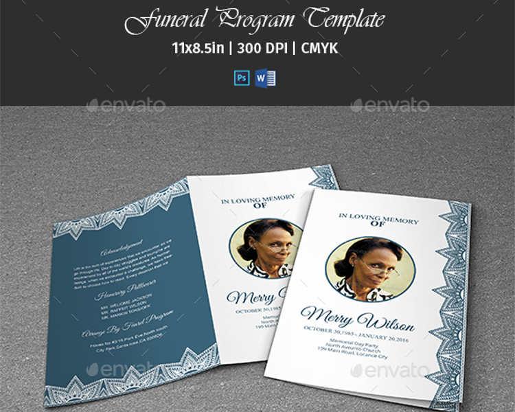 57 Funeral Program Templates Free Word PDF PSD Doc Samples