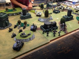 Chaos Space Marines vs Astra Militarum - Turn #1