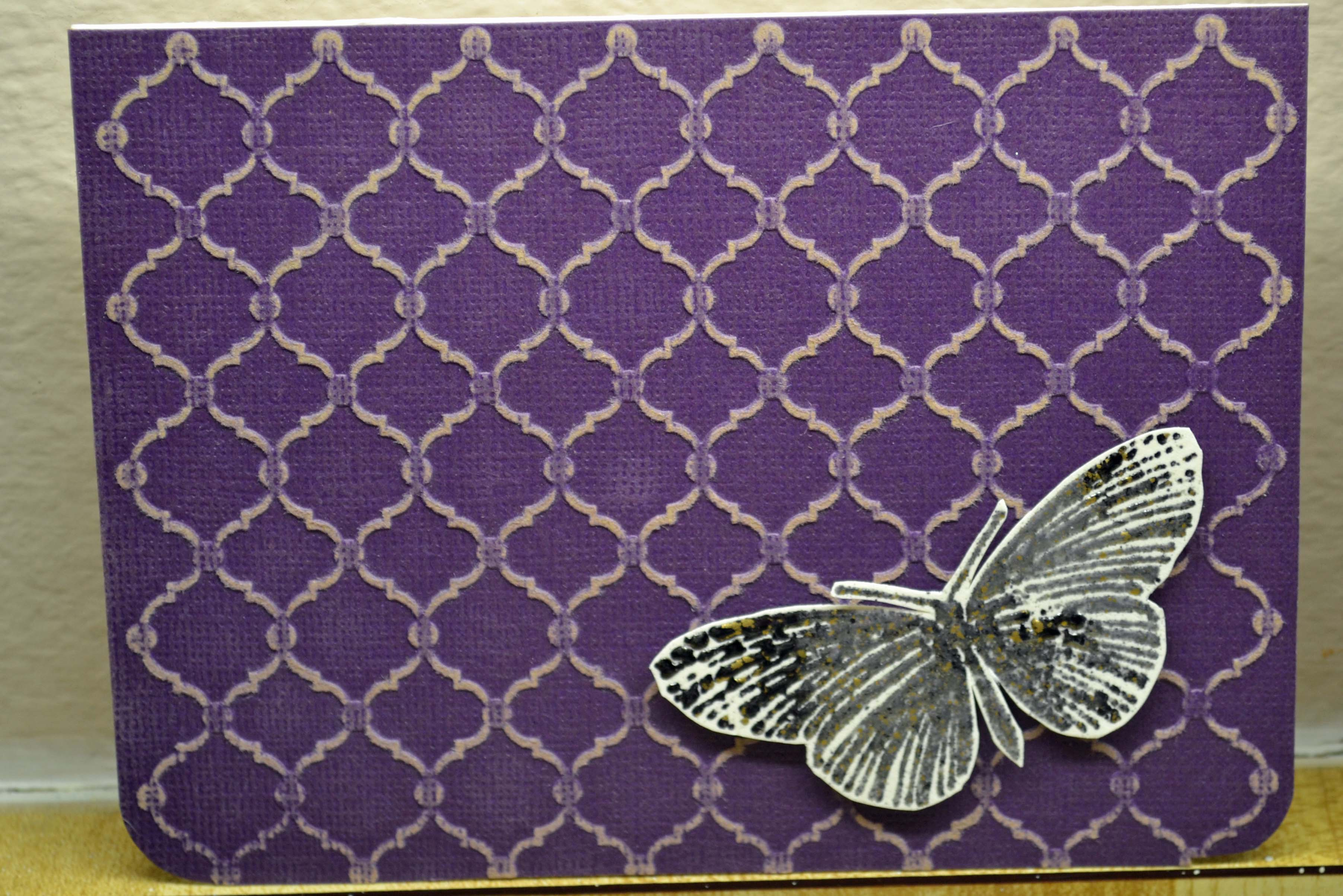 Lifestyle crafts embossing folders a simple card awaiting a sentiment core dinations paper was run