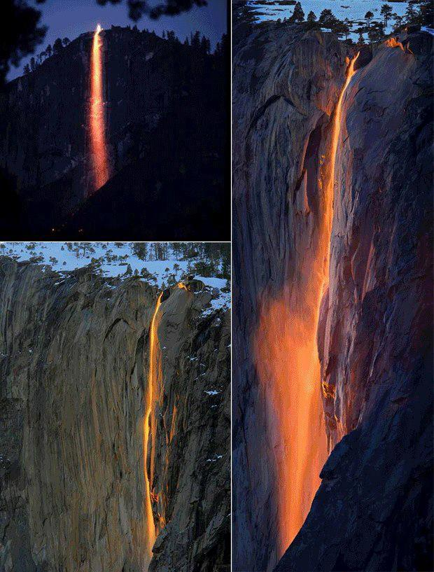 lava waterfall
