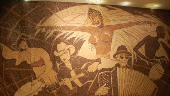 565Coffee bean mosaic