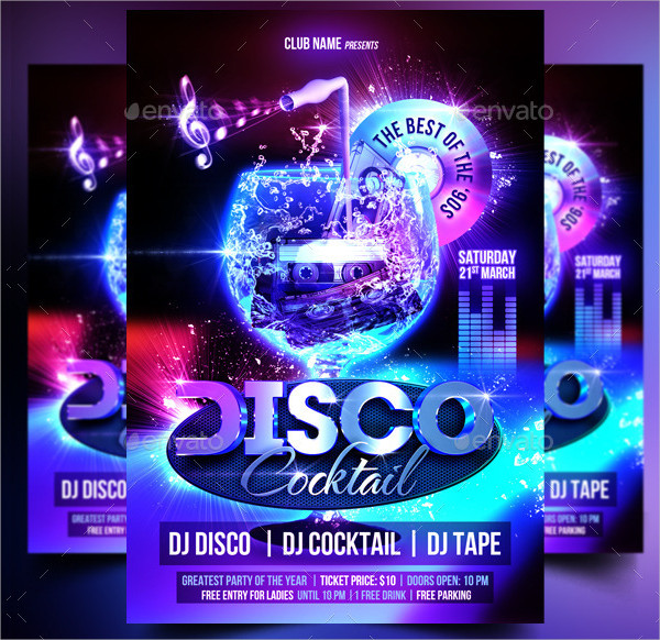 31+ Top Disco Flyer Templates - Free  Premium Download