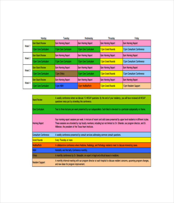 Schedule Templates - 21+ Free Word, PDF Documents Download - conference schedule template