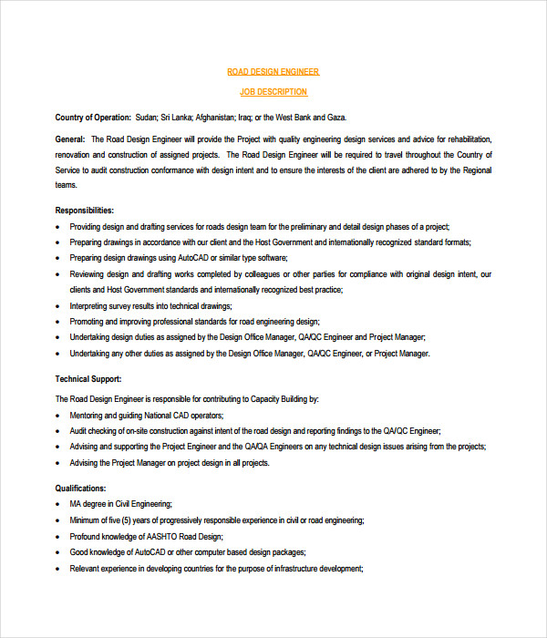 Design Engineer Job Description | Design Engineer Job Description Colbro Co