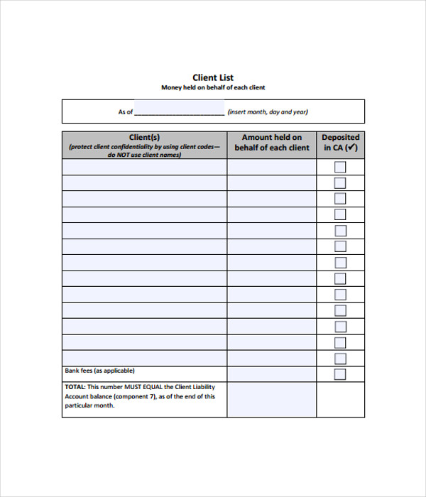 21+ List Templates - Free Word, PDF Documents Download