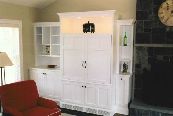 Entertainment Center And Desk Area Creative Wood Designs