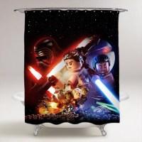 Star Wars Lego The Force Awaken Bathroom Shower Curtain ...