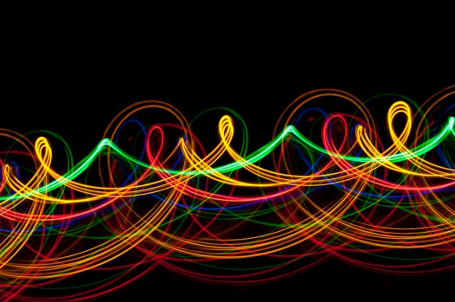 Colorful 3d Abstract Wallpapers Twisted Light Loops Free Backgrounds And Textures