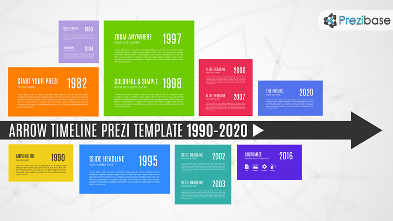 Arrow Timeline \u2013 Prezi Presentation Template Creatoz collection