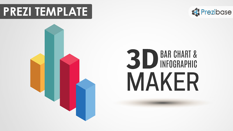 3D Bar Chart Maker \u2013 Prezi Presentation Template Creatoz collection - Bar Chart Template