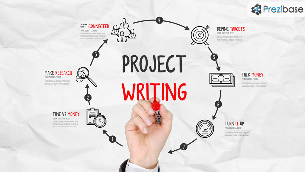 Project Writing \u2013 Prezi Presentation Template Creatoz collection - Presentation Project