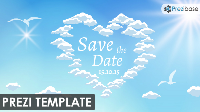 Save the Date \u2013 Prezi Presentation Template Creatoz collection - Save The Date Wedding Templates