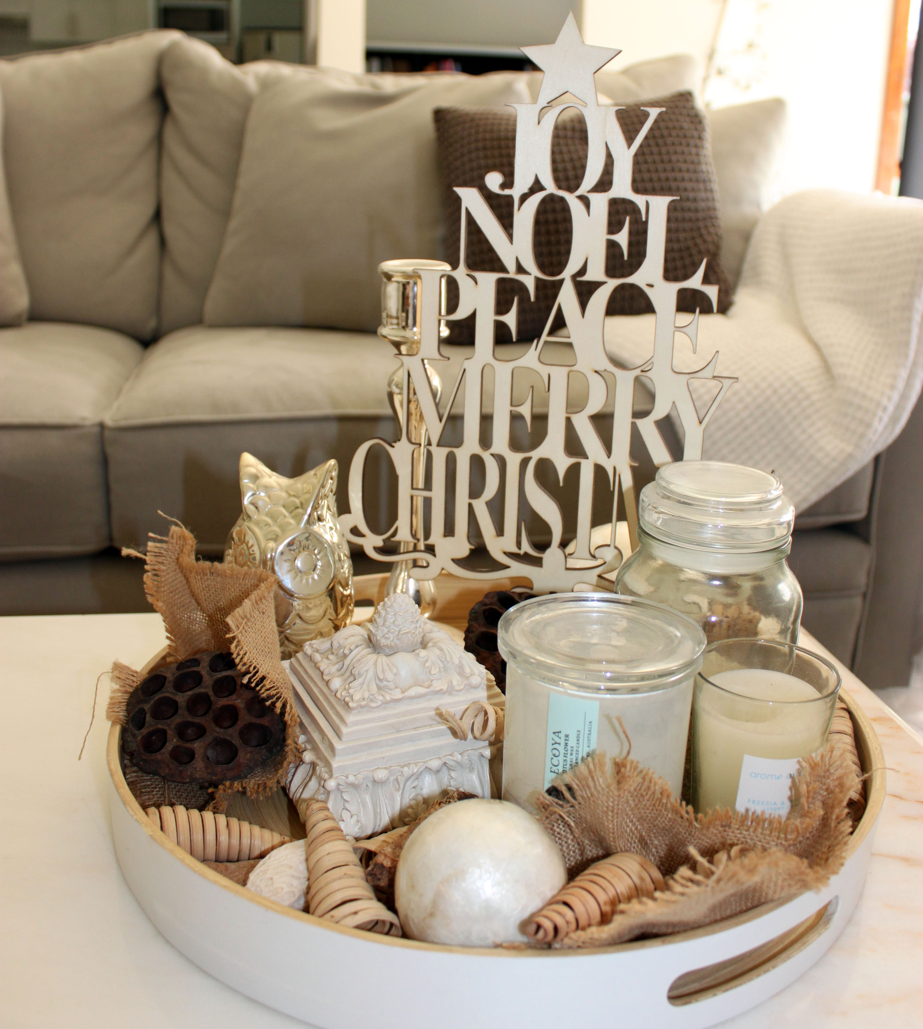 Simple Coffee Table Decor My Simple Christmas Coffee Table Display