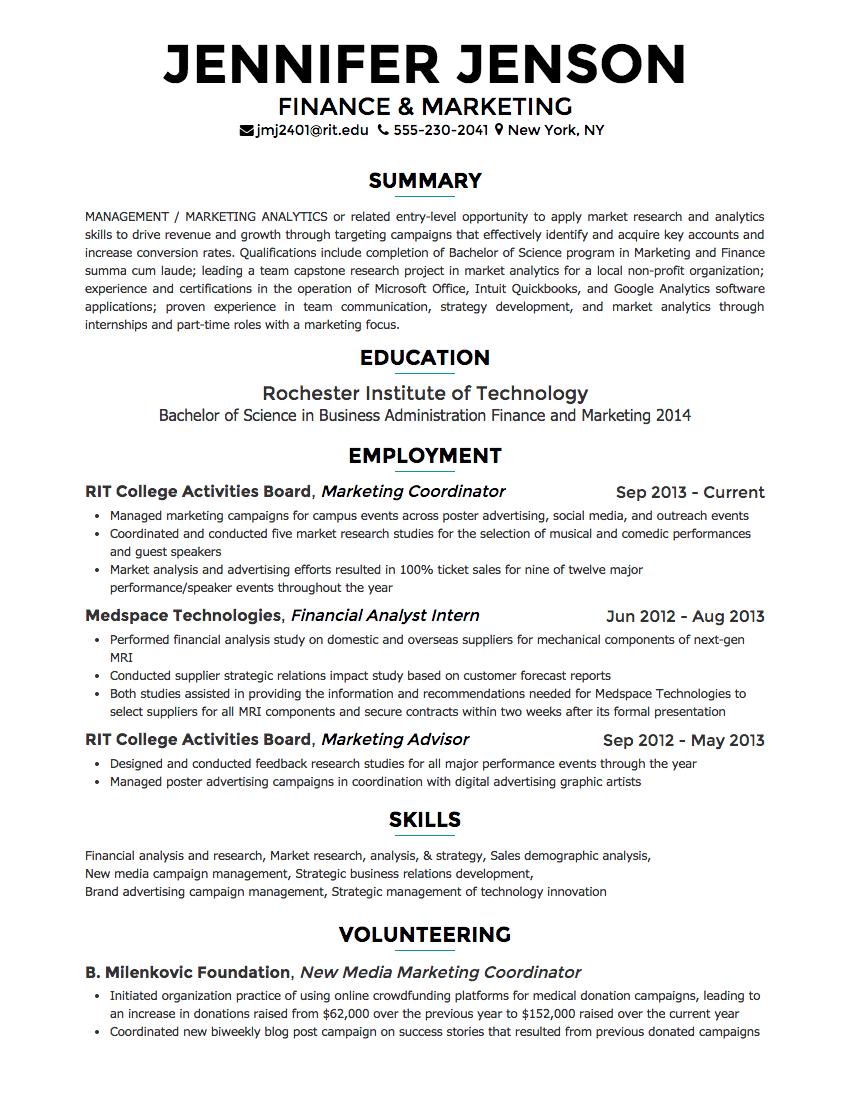 free resume website builder