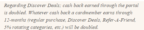 Introduction to Discover the double cash back credit card