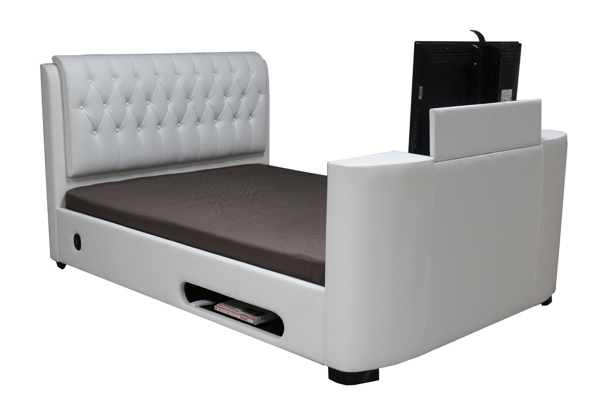 King Size Tv Bed Cosmo Faux Leather King Size Tv Bed