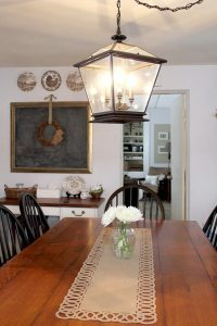 Farmhouse Lighting in the Kitchen | The Creek Line House