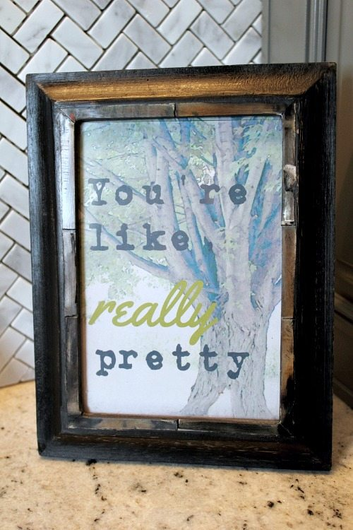 How to make your own printable quote art work! The Creek Line House