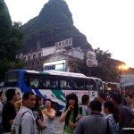 Tour groups outside Impressions San Liuje
