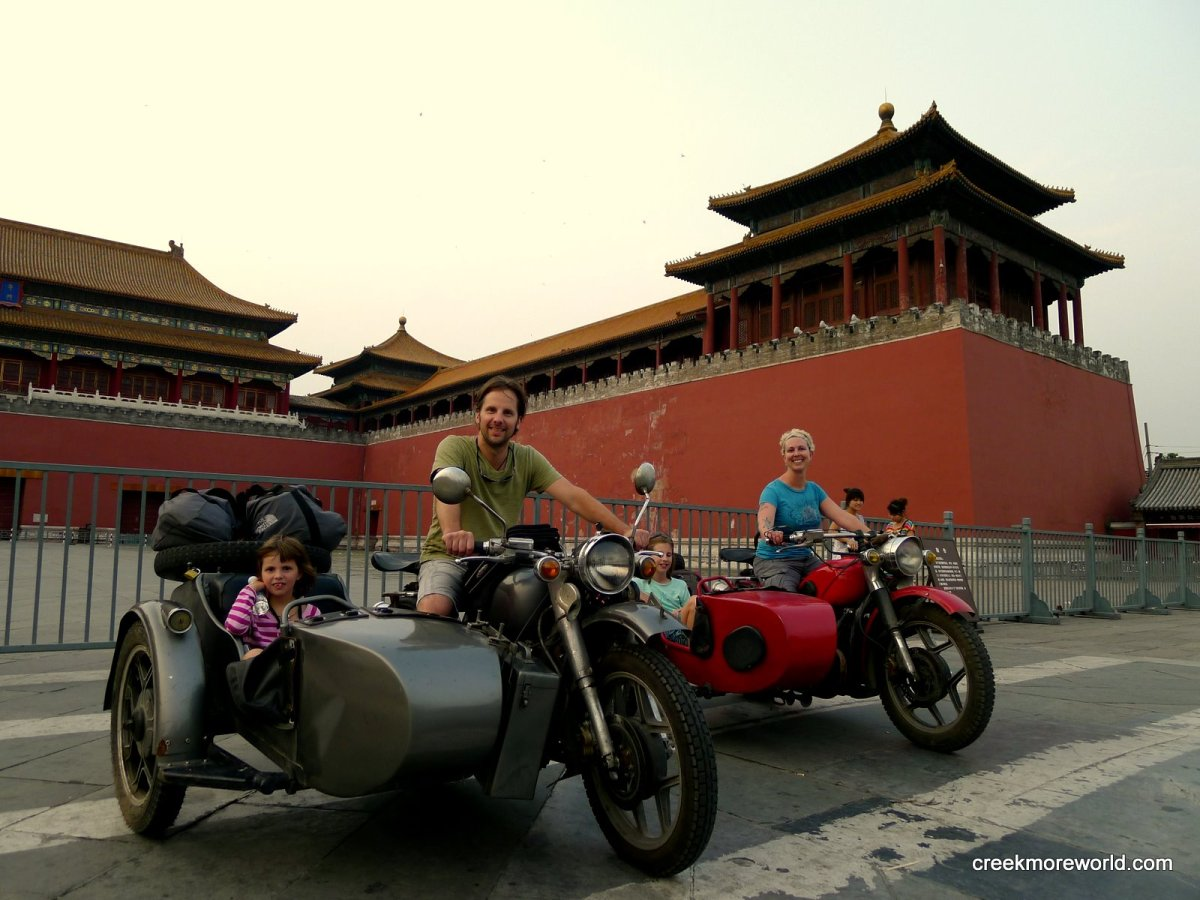 Beijing from a WWI motorcycle sidecar - Asia - China - Day 14
