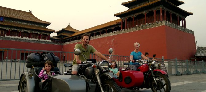 Beijing from a WWI motorcycle sidecar – Asia – China – Day 14