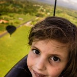 Costa Rica - Lily in hot air balloon, Arenal Area