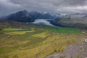 The Skaftafell national park and glacier.
