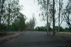 Empty streets of Khajuraho