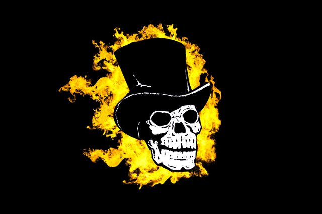 Wallpaper Hd Ghost Rider Image Of Flaming Skull In A Top Hat Creepyhalloweenimages