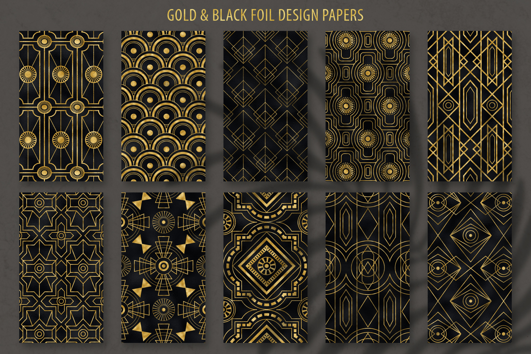 Mix And Match Deco Geometric Art Deco Patterns 20 Seamless Vector Patterns
