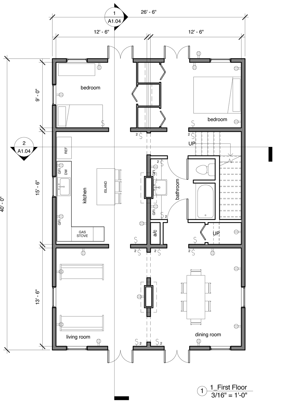 The floor plan a creole cottage