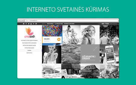 Interneto svetaines kurimas