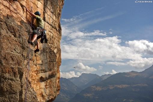 Escalade en grande voie, stage, hautes-alpes, escalade, initiation, adulte