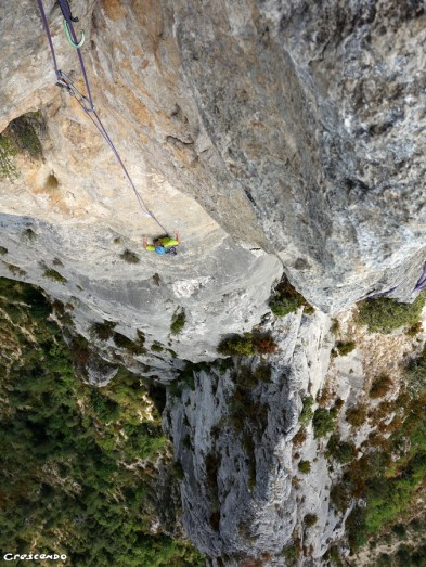stage de grimpe, moniteur d'escalade, grande voie, séjour grande voie